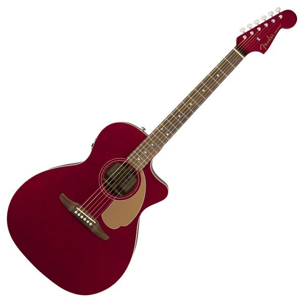 Fender Newporter Player Electro Acoustic - Candy Apple Red (RRP £299)